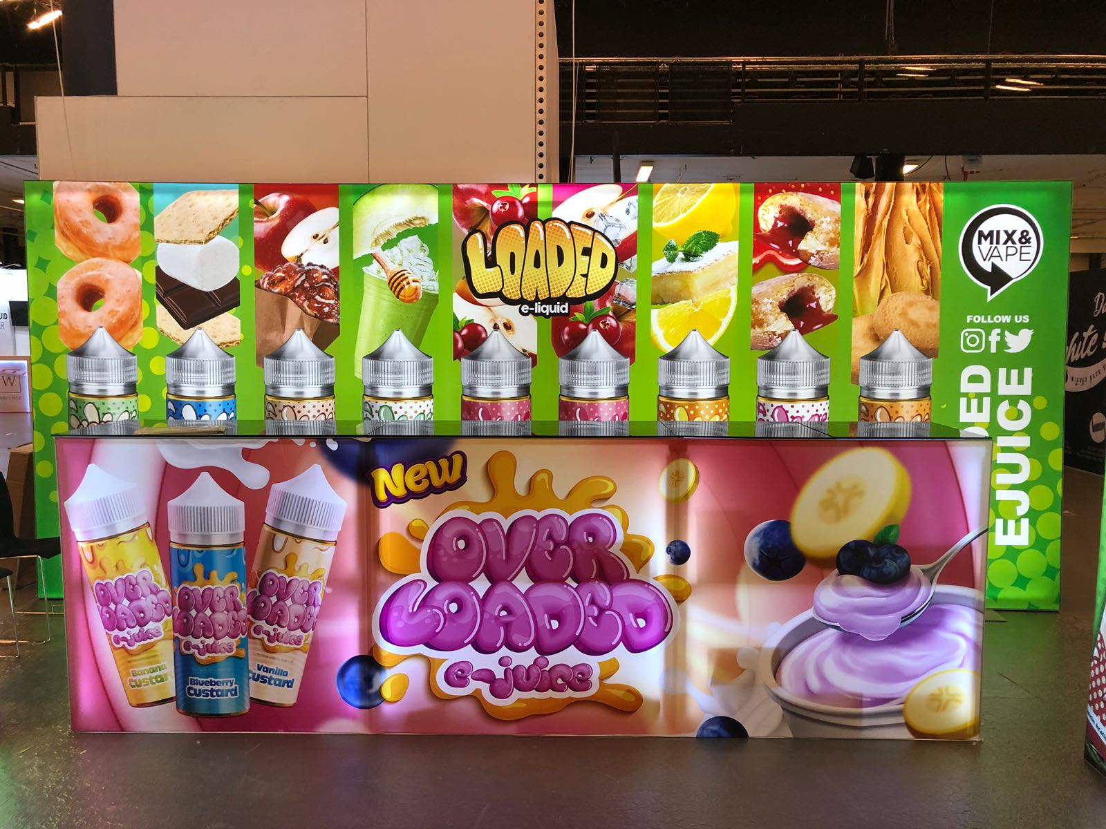 Loaded E-Juice Tradeshow Booth in Copenhagen Denmark