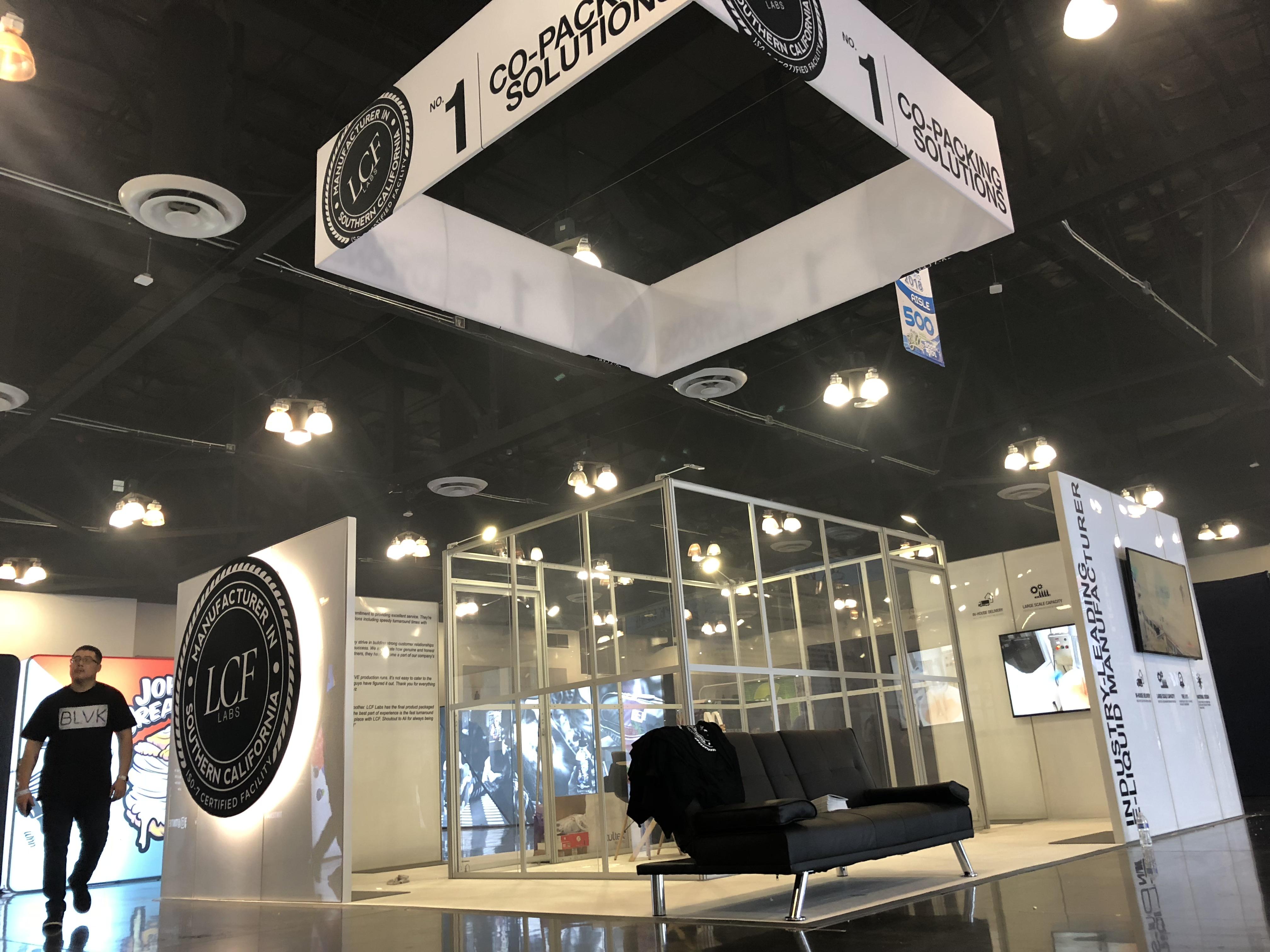 LCF Labs Tradeshow Booth at ECC 2018