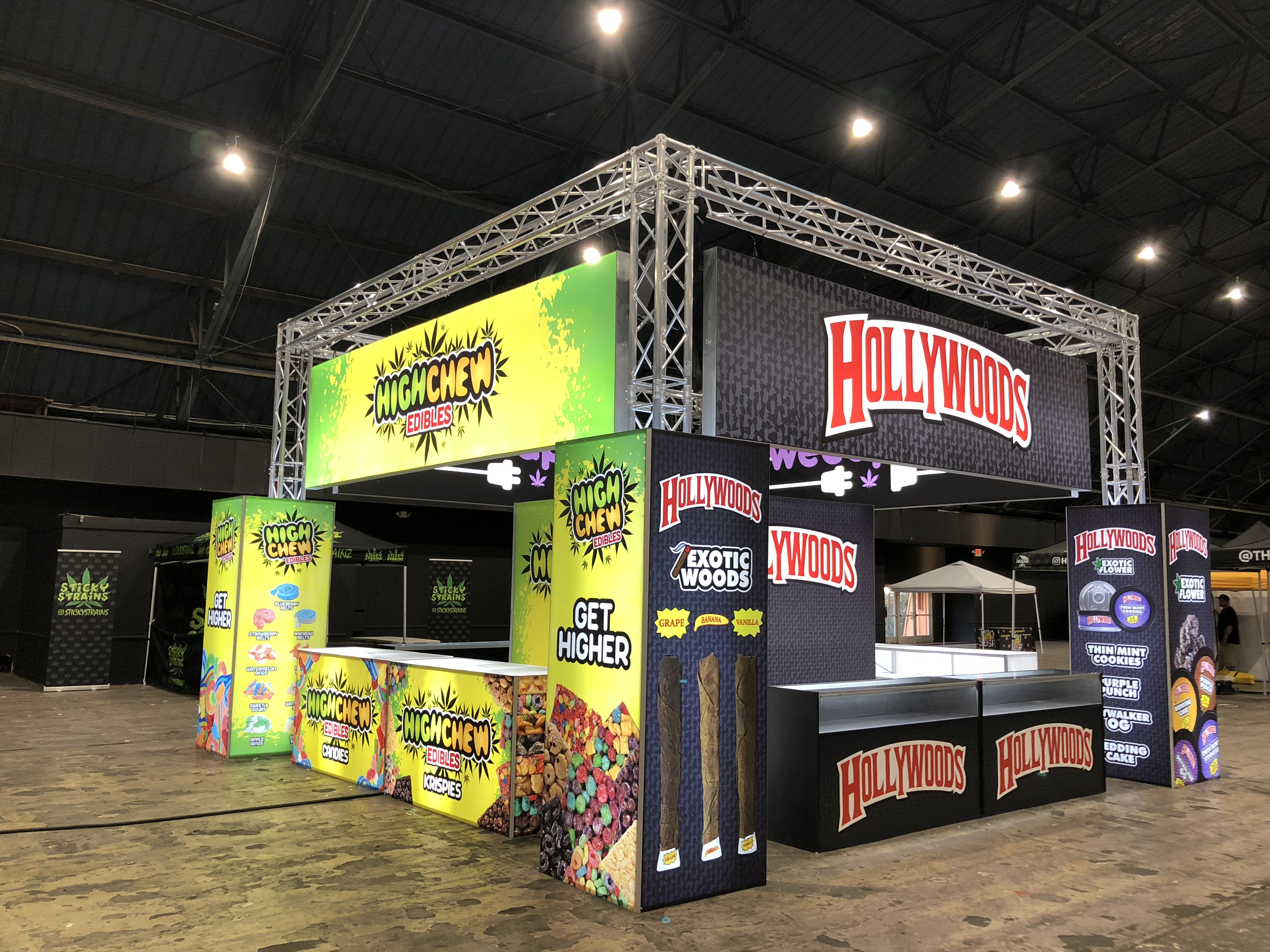 Weed Plus Tradeshow Booth at High Life Festival