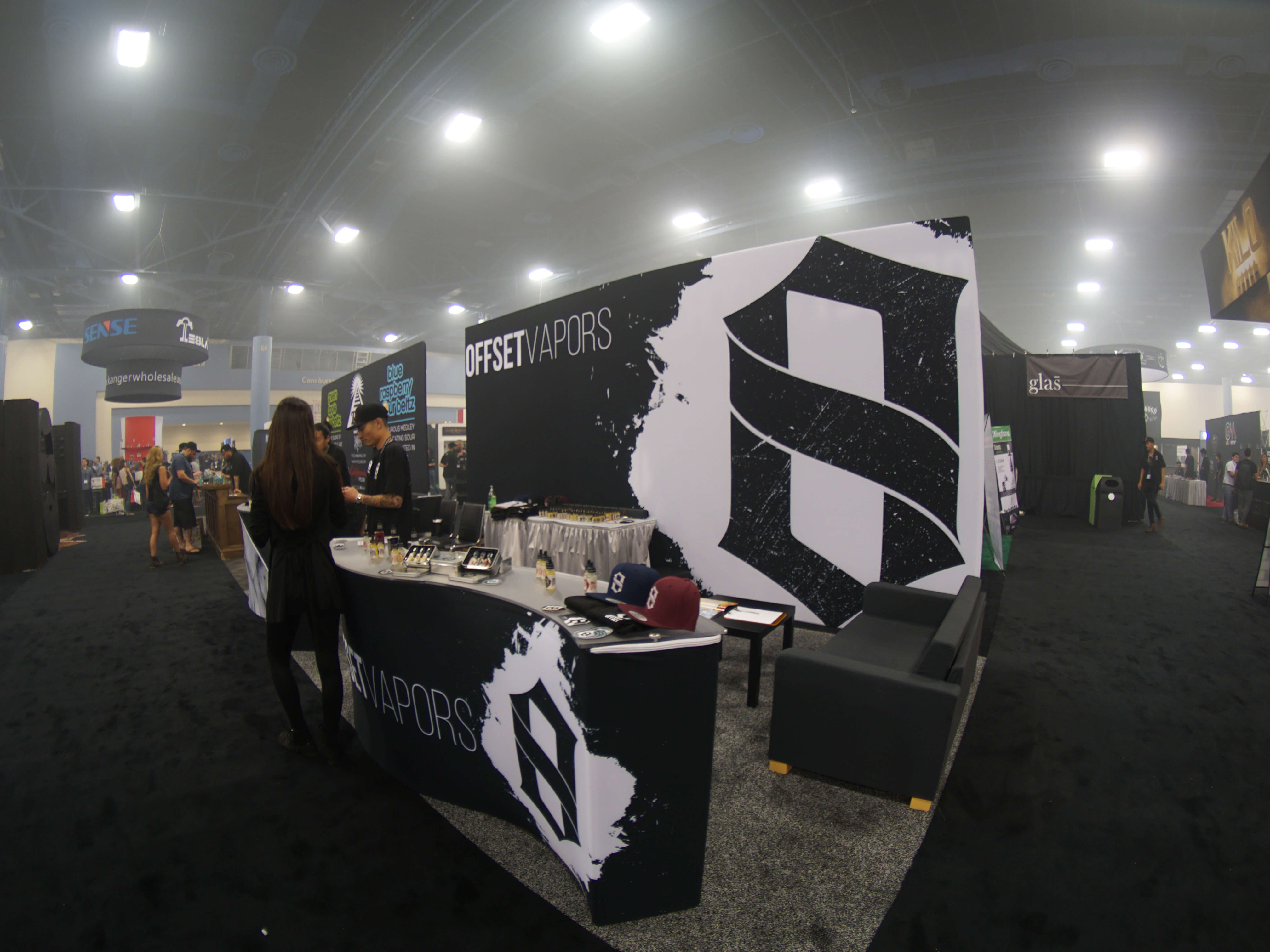 Exhibition Booth Size : Offset vapor tradeshow booth u monk vibe