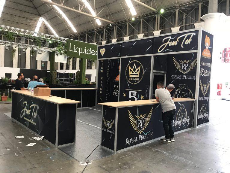 Jem Tek, Skweezed, mamasan Tradeshow Booth Barcelona Spain