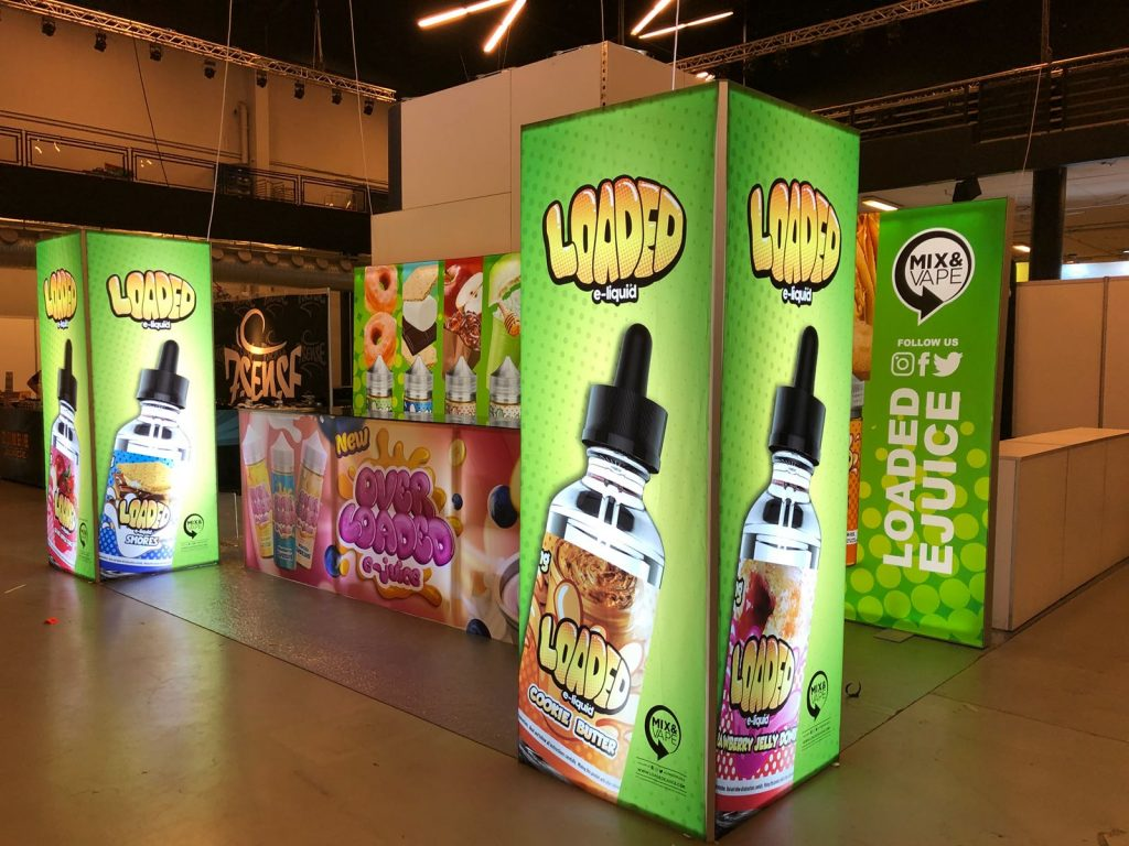 Loaded E-Juice Tradeshow Booth in Copenhagen Denmark