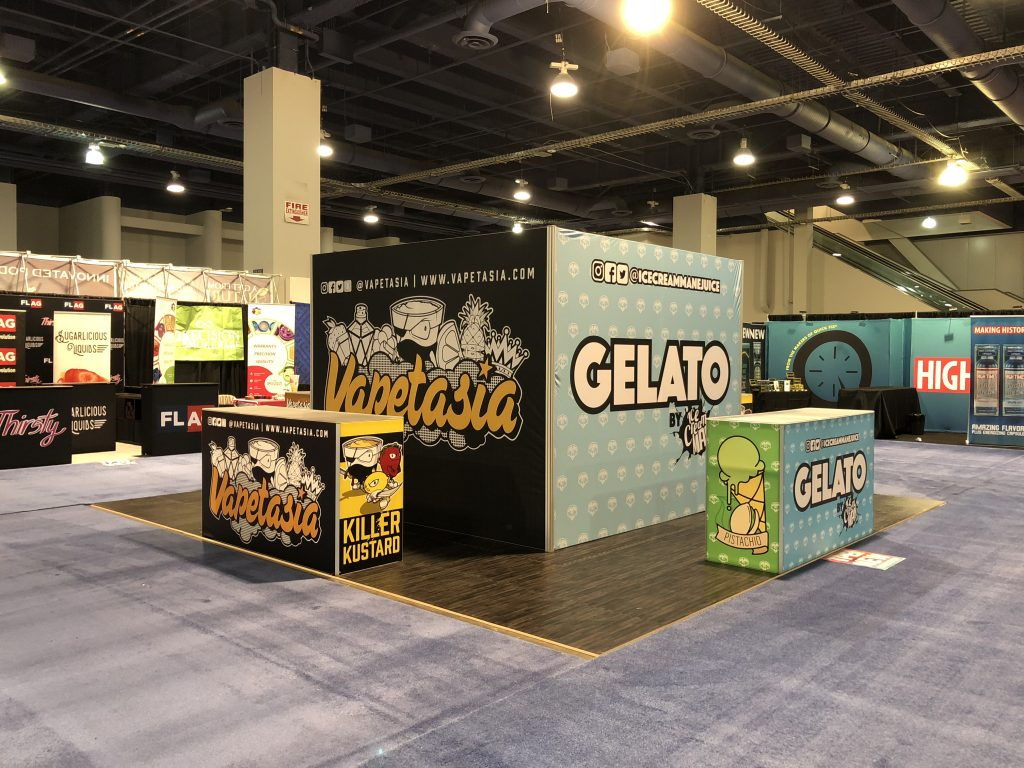 Vapetasia Tradeshow Booth at TPE Las Vegas 2018