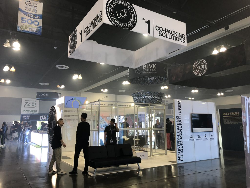LCF Labs Tradeshow Booth at ECC 2018