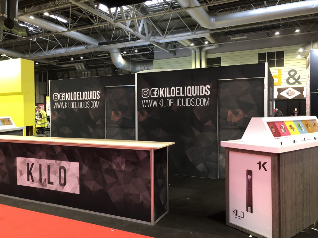 Kilo E-Liquids Tradeshow Booth at Vaper Expo UK