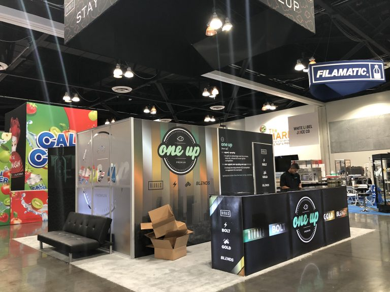 One Up Tradeshow Booth at ECC Pomona 2018