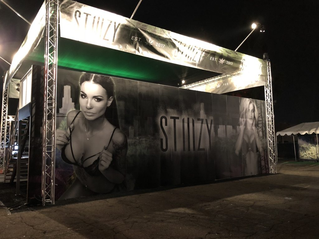 Stiiizy Tradeshow Booth at High Times Socal 2017