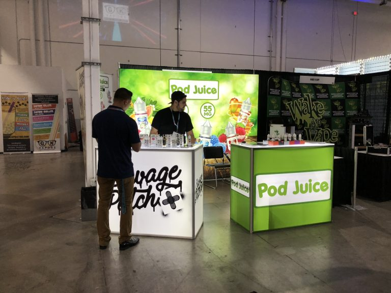 pod juice 10x10 tradeshow display world vapor miami expo