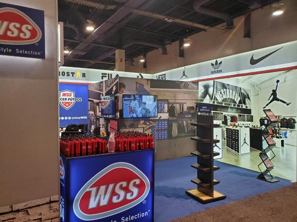 WSS Trade Show Booth at ICSC Recon 2019 • Monk Vibe