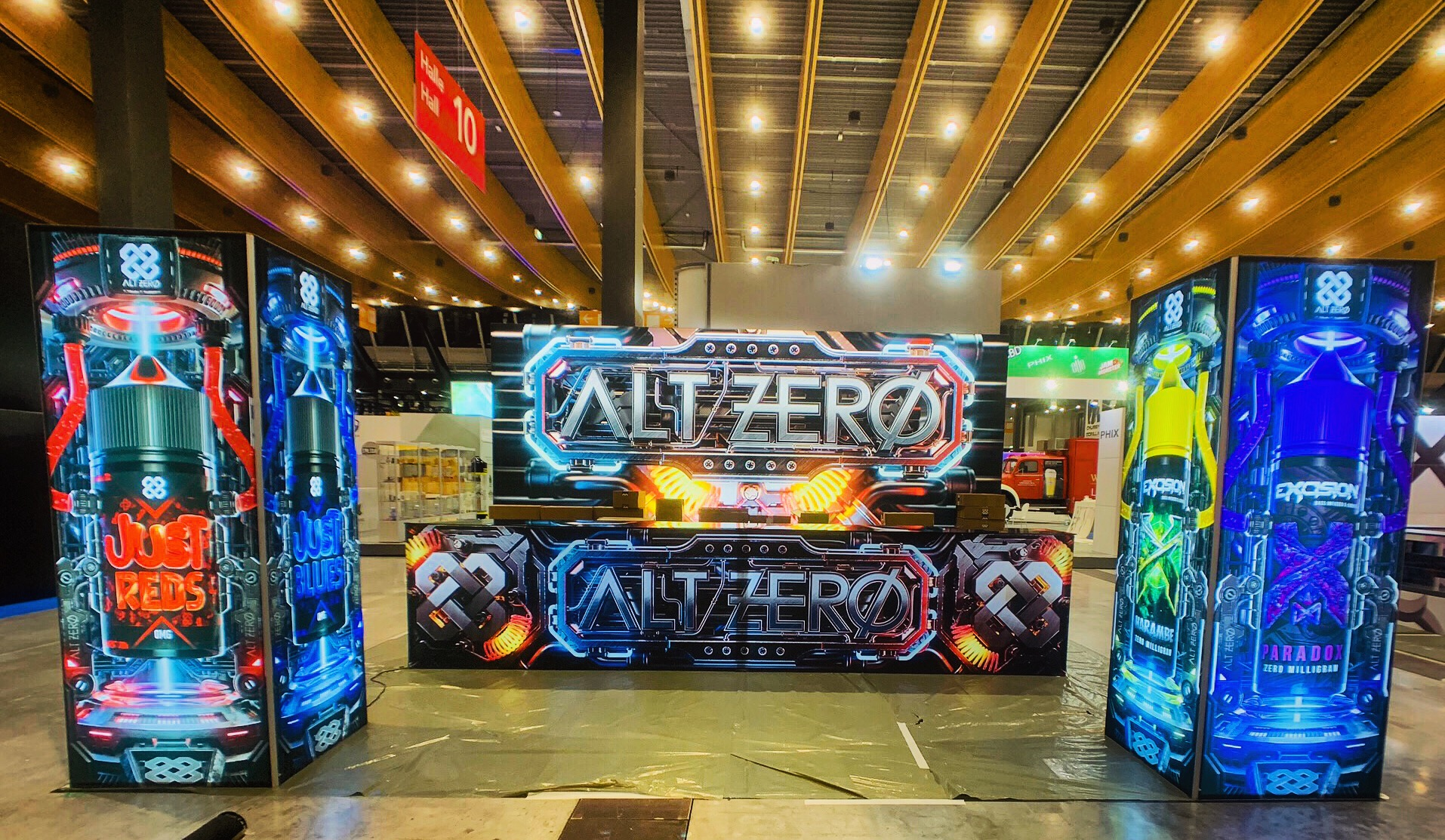 ALT ZERO Booth at Hall of Vape 2019 • Monk Vibe