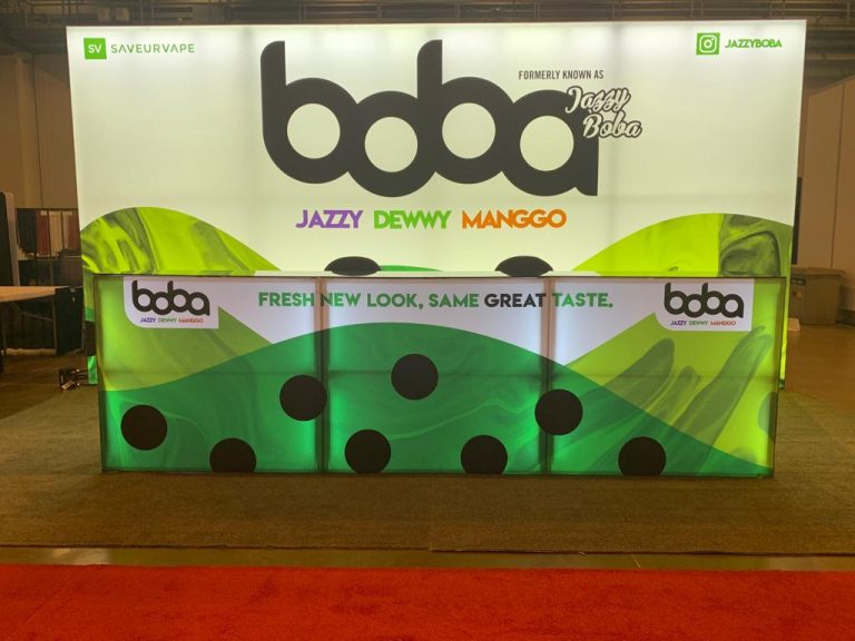 Jazzy Boba 10' x 20' Booth