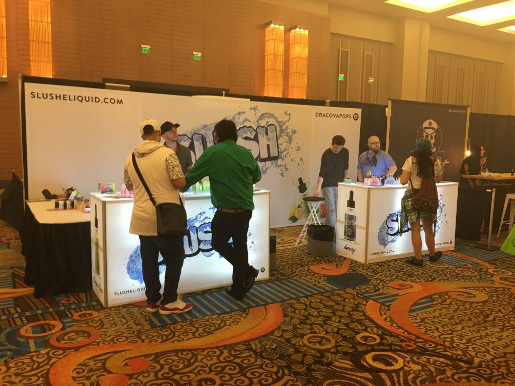 Slush E-Liquid Tradeshow Booth Foxwood Vape Show