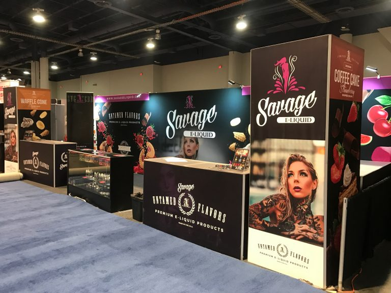 Savage E Liquid Tradeshow Booth TPE Las Vegas