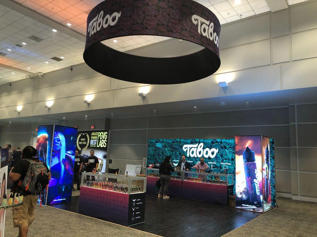 Taboo E-Liquid Tradeshow Booth at ECC Pomona