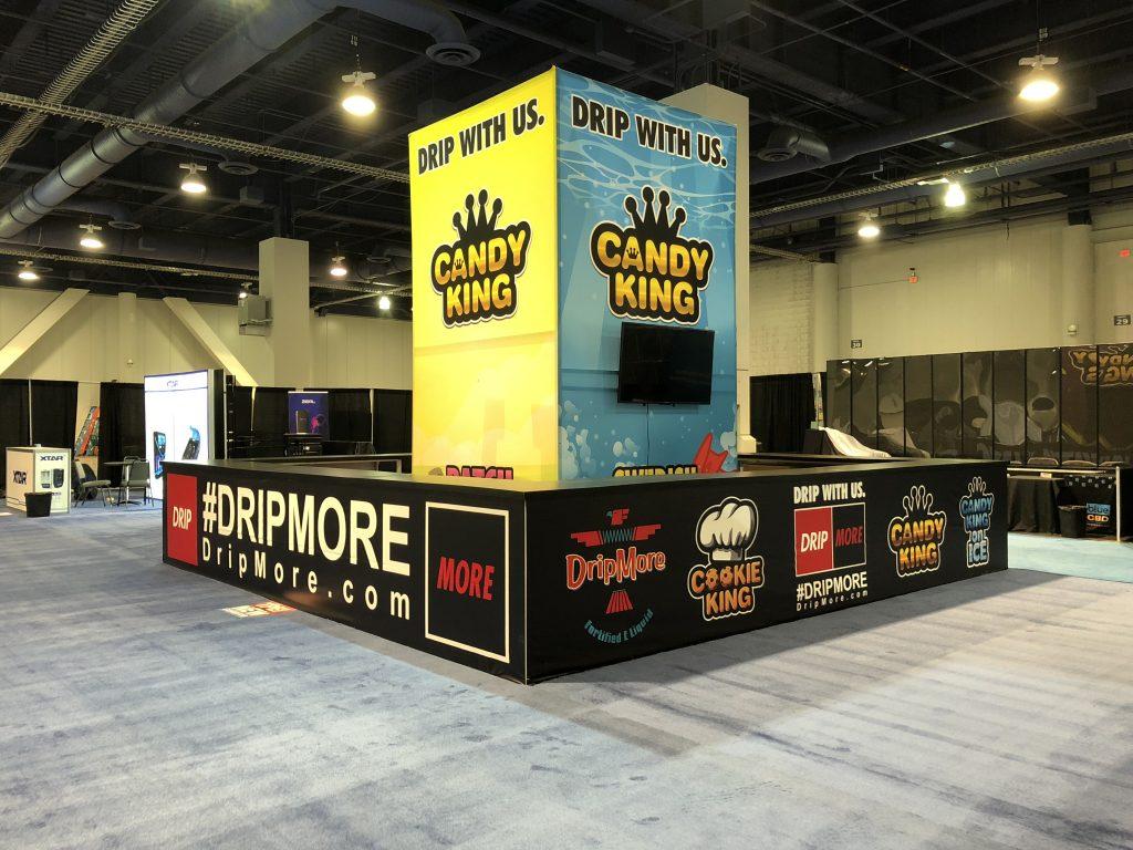 Drip More Tradeshow Booth at TPE Las Vegas