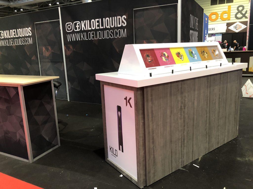 Kilo E-Liquids Tradeshow Booth at Vaper Expo UK