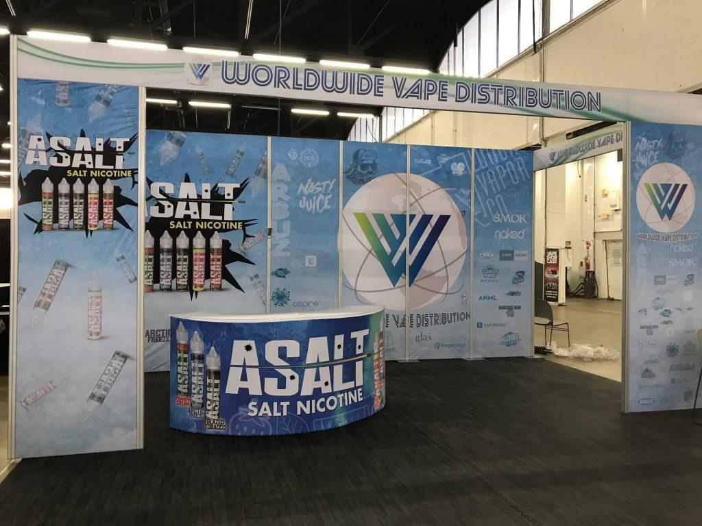 Worldwide Vape Distribution Tradeshow Booth Vape Showcase