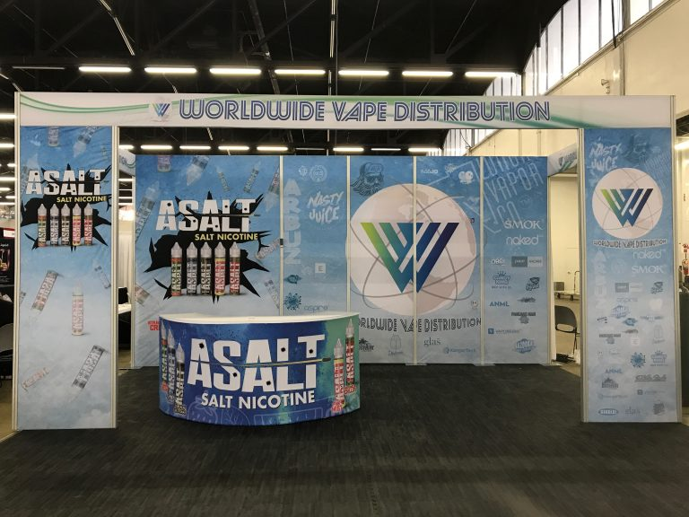 Worldwide Vape Distribution Tradeshow Booth Vape Showcase
