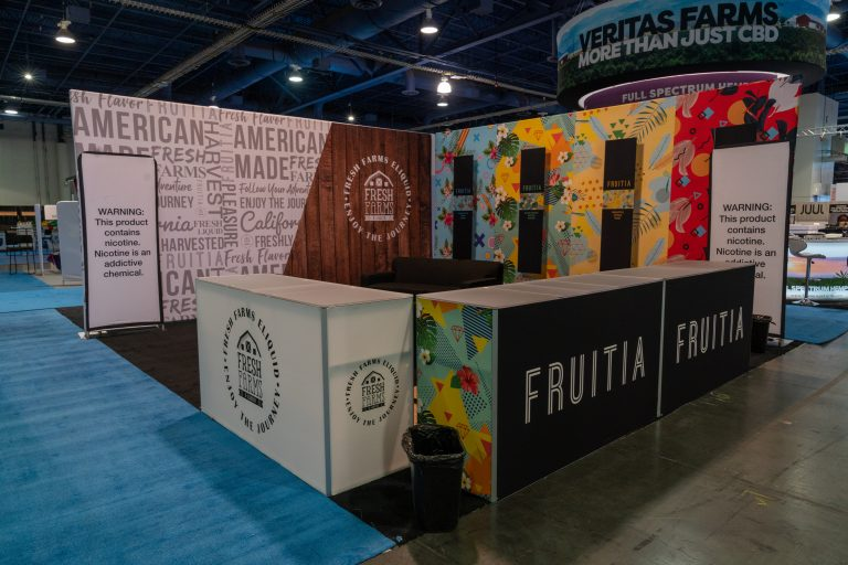 Fresh Farms Eliquid 20x20 Booth at TPE 2020