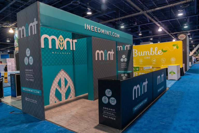 Mint CBd 20x20 Booth at TPE2020