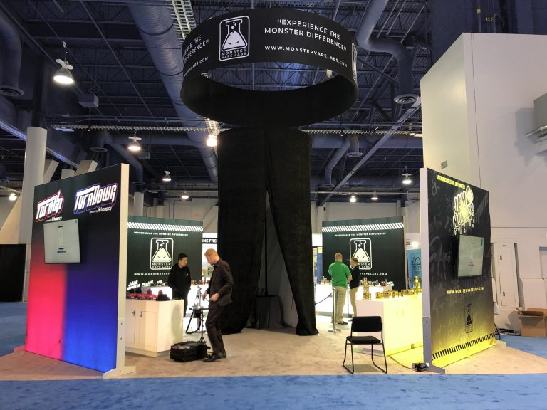 Hempcy and Monster Vape Lab 20x20 Booth at Tobacco Plus Expo 2020